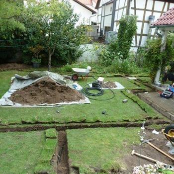Installation einer Bewässerungsanlage